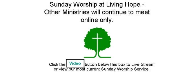 Sunday Worship at Living Hope